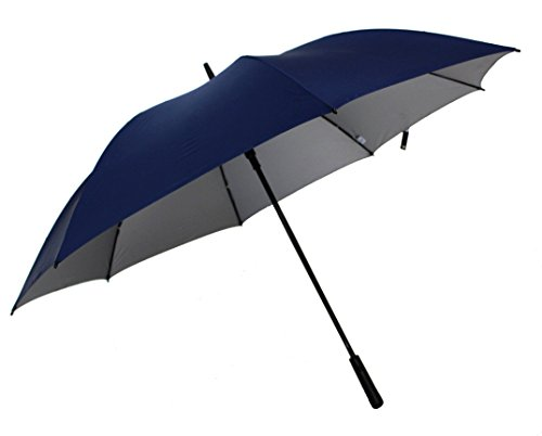 Sun Jumbo Size 2-Person Blue Auto Open Umbrella