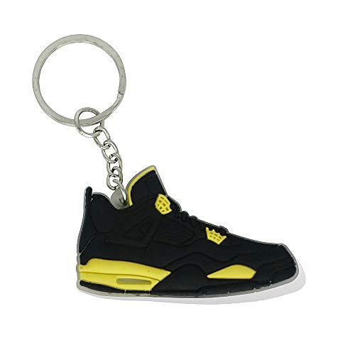 ProProCo Sneaker Schlüsselanhänger Air Jordn 4 IV Schuh Schlüsselanhänger Schwarz Gelb Schuh Fashion für Sneakerheads,hypebeasts und alle Keyholder Nik (Schwarz - Gelb)