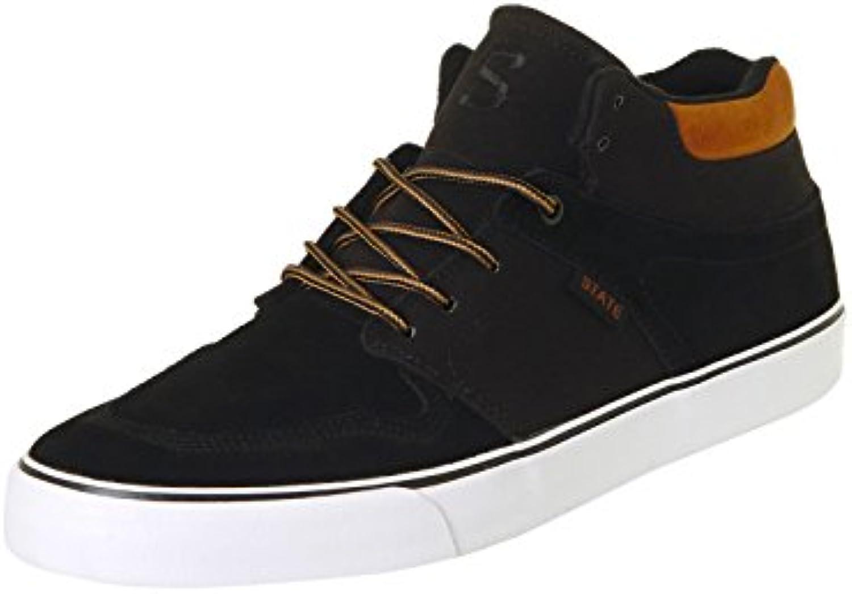 Zapatos State Mercer Negro-Tan Canvas  En línea Obtenga la mejor oferta barata de descuento más grande