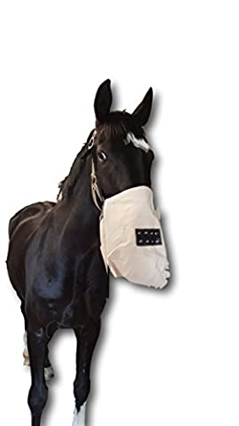 White Lining Bag with Neck Strap for Horse Feed Bag Practical Lining Also of feed Concentrate Adjustable Strap Mi Ideal