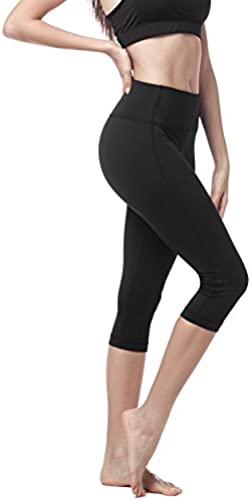 LAPASA Damen Capri Leggings 3 4, 1&2 Pack, Sport Yoga Pants High Wasit, MEHRWEG L002