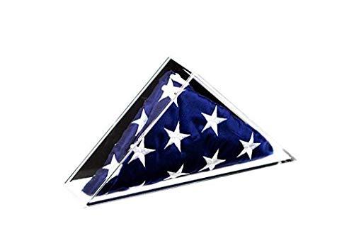 Wandhalterung Vitrine (YANAN Deluxe Acryl-Vitrine für kleine Flaggen mit schwarzer Rückseite und Wandhalterung, Motiv amerikanische Flagge, ca. 60 x 90 cm)