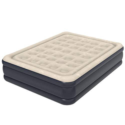 WRF Nickerchen-Luftbett, tragbares wasserdichtes umweltfreundliches PVC-Material, weich und bequem mit Luftpumpe, für Camping, Gast, Wandern (bräunliches Gelb)