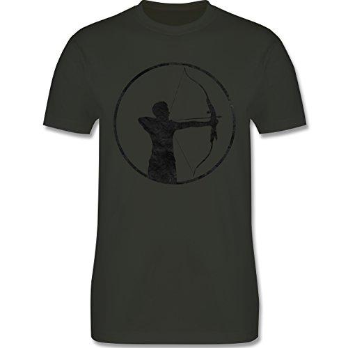 Sonstige Sportarten - Bogenschütze - Herren Premium T-Shirt Army Grün