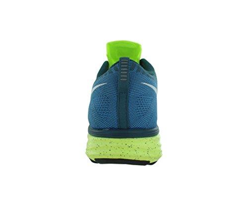 Nike Flyknit Lunar2 Us 6 Rose Running Shoe Volt / White-Blue Glow-Night Factor