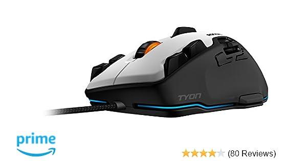 571ba2c613c ROCCAT Tyon Multi-Button 8200dpi Laser R3 Sensor USB Gaming Mouse, 1.8m,  INT-ROC-11-851-TYON-WHITE