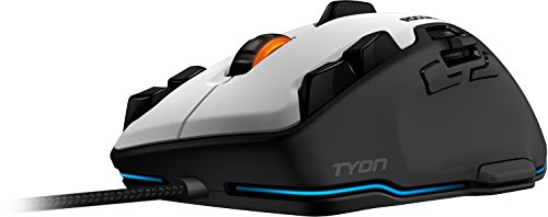 Roccat Tyon - Ratón Gaming (Sensor Láser 8200 dpi, 14 Teclas, Interruptor análogo de Pulgar) Blanco