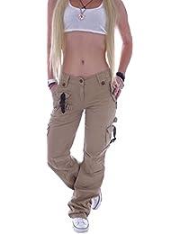Style-Station Damen Cargohose Stoffhose Cargo Hose Hüfthose Jeans XS 34 S  36 M 38 L 40 XL 42 XXL 44… f804c04f67