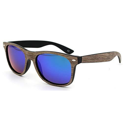 Asdflina occhiali da sole polarizzati unisex occhiali da sole in legno retro con lenti colorate per uomo e donna uv400 marca occhiali da sole firmati (colore : c16)