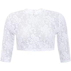 Country-Line Damen Trachten-Mode Dirndlbluse Kate in Weiß traditionell, Größe:32, Farbe:Weiß