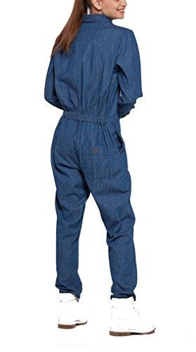 OnePiece Damen Jumpsuit Momentum, Blau (Denim Blue), 36 (Herstellergröße: S) - 2
