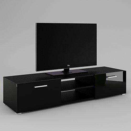 luna-armoire-basse-meuble-tv-le-corps-noir-mat-le-front-noir-haute-brillance