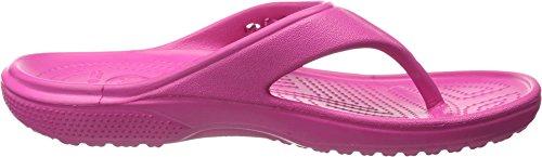 Crocs Baya Flip, Unisex-Erwachsene Zehentrenner Sandalen, Pink (Candy Pink)
