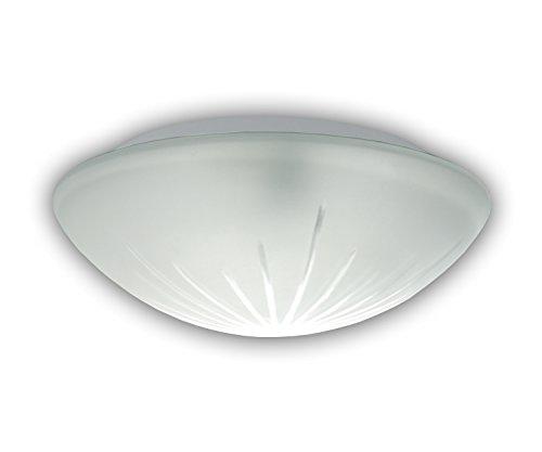Plafonnier plafonnier/bol en verre satiné, Ø 30 cm