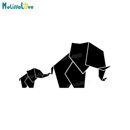 Design moderno geometrica elefantino con mamma wall sticker per bambini baby room nursery decalcomanie vinyl art murales grande regalo 112x56 cm