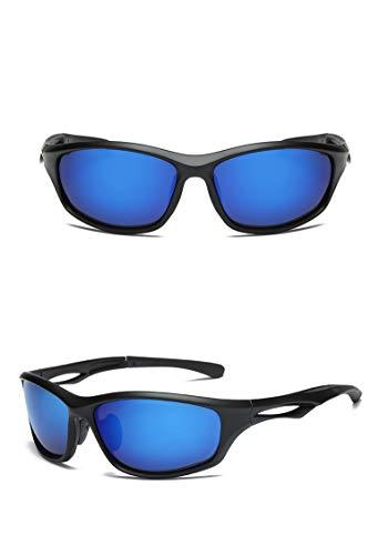 L.Z.HHZL Schutzbrille Mann Frau polarisierte Sonnenbrille Outdoor Sports Radfahren Brille Nachtsichtbrille Sonnenbrille (Color : Blue)