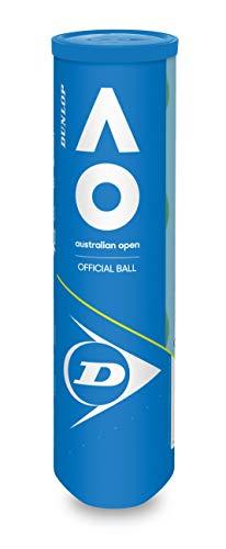 DUNLOP Alle Altersgruppen Australian Open Tennisbälle, Gelb, Einheitsgröße