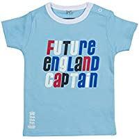 England Cricket - Camiseta de capitán de Inglaterra para niños, Infantil, Color Sky, tamaño 6-9 Meses