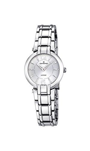Candino-Orologio da donna al quarzo con Display analogico e cinturino in acciaio INOX color argento/C4574 1