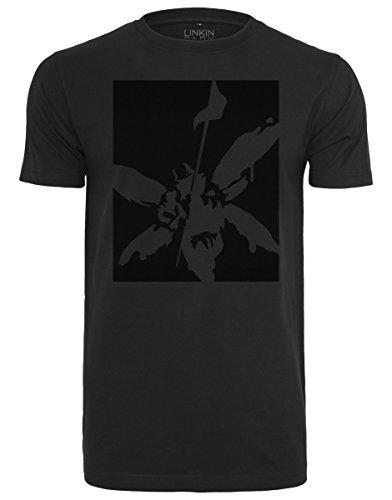 MERCHCODE Herren Linkin Park Street Soldier Tonal Tee T-Shirt, Black, XL (Tonal Print-shirt)