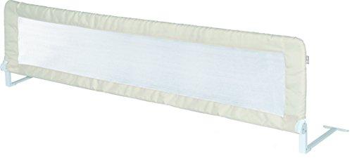"""Preisvergleich Produktbild roba Bettschutzgitter """"Klipp-Klapp"""", klappbares Bettgitter für Babys & Kinder, Rausfallschutz 150 cm, für Matratzen von 14 bis 25 cm geeignet, beige"""