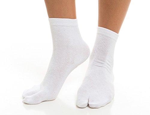 V-Toe Flip Flop Tabi Socken - Weißfest