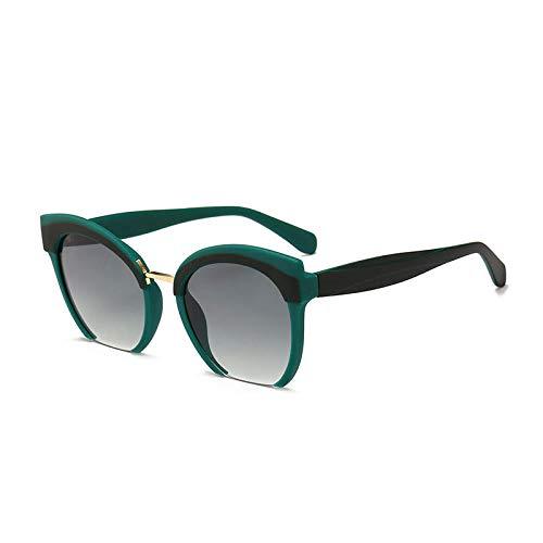 PROMISE-YZ sonnenbrille polarisierte sonnenbrille Retro Half-Frame-Sonnenbrille Outdoor-Reisen Männer und Frauen Persönlichkeitstrends Mode wildF