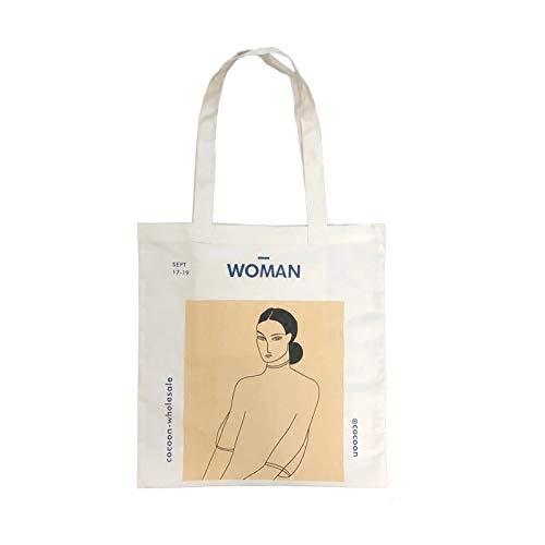 anaan Woman Borsa tote Borsa con tasca interna a Tracolla cotone e tela con manici Henri Matisse Pittura stampa Borsa shopper decorare riutilizzabile ecocompatibile Design