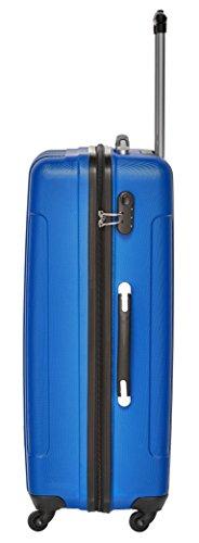 Packenger Kofferset - Torreto - 3-teilig (M, L & XL), Blau, 4 Rollen, Koffer mit Zahlenschloss, Hartschalenkoffer (ABS) robuster Trolley Reisekoffer - 3