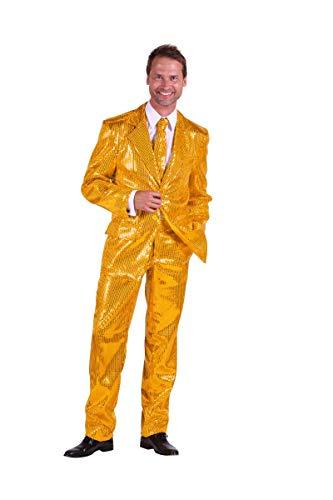Pailletten-Anzug in gold | Elvis-Anzug 3tlg. für Karneval, Fasching oder Motto-Party (52)