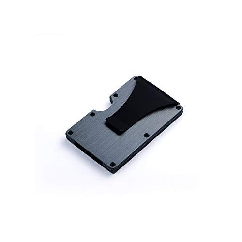 Daisy-Life Kreditkarten-Ausweishülle mit RFID-Diebstahlschutz, Metall, Mini-Geldklammer, Kohlefaser, Schwarz/Silberfarben/Grau X-11B -
