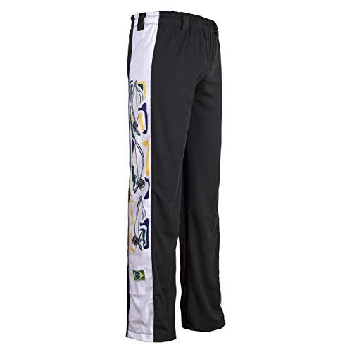 Original Brasilianische Berimbau Capoeira Hose Unisex schwarz Abada Martial Arts Elastische Pants. -