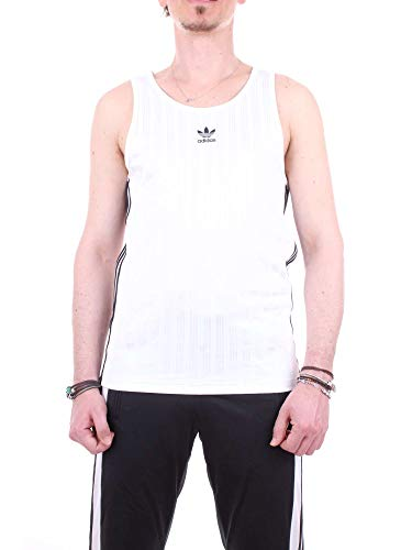 adidas Herren Football Tanktop, White, XL