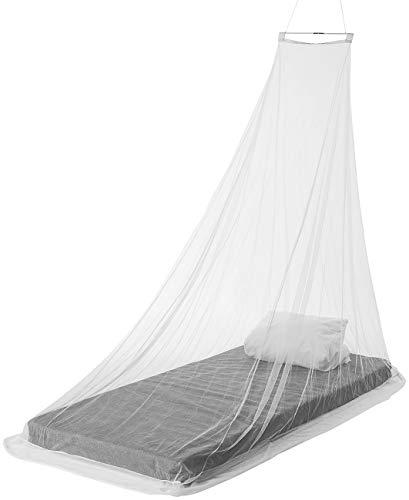 infactory Moskitonetz fürs Bett: Keilförmiges Moskitonetz für Einzelbetten, 156 Mesh, weiß (Mosquito-Netz)