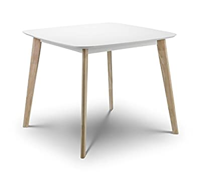 Julian Bowen Casa Dining Table, White - inexpensive UK dining table shop.