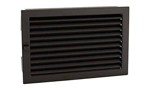 CB Warmluftgitter 35x23, schwarz, Standard