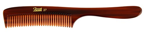 Roots Hair Combs - Brown Fine Teeth Comb with Handle for Fine Hair