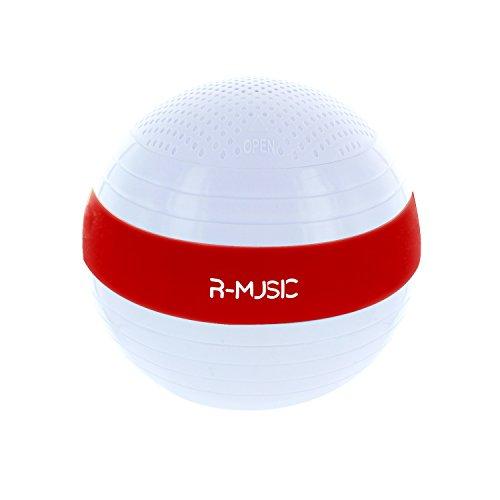 RM482174  Enceinte flottante Bluetooth sans fil- Résistance à l'eau IPX6- Son riche et claire- Batterie rechargeable intégrée- Autonomie 4H- Micro USB DC 5V 500mA- Blanc- Rouge