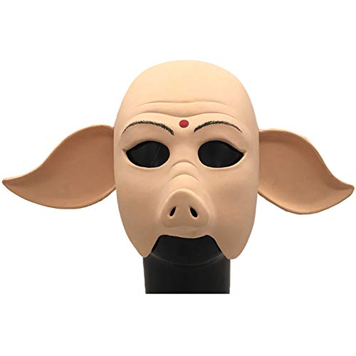 S+S Lustige Maske, Happy Pig Kopf Maske Halloween Party Lustige Süße Latex Tierkopf Film Kostüm Party Performance Requisiten Zubehör Erwachsene Kinder (Am Besten Kostüme Blutig, Halloween)