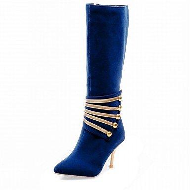 Moda Donna Sandali Sexy donna tacchi Primavera / Autunno / WinterHeels / Piattaforma / Cowboy / Western Stivali / Snow Boots Blue
