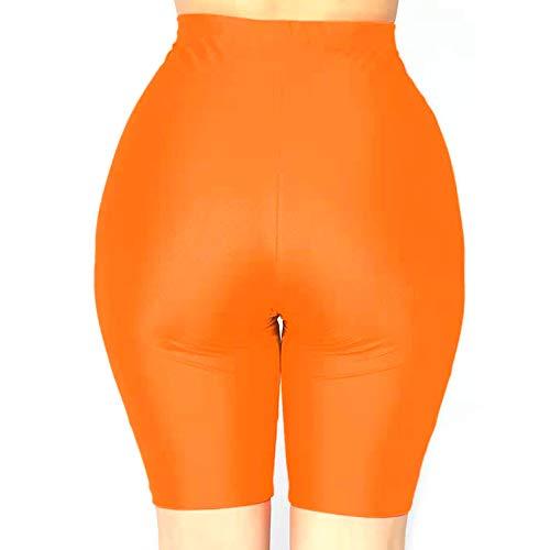 Spandex Workout Shorts (Jiadi Damen Neon Bike Shorts mit hoher Taille Workout Yoga Laufen Legging Shorts)
