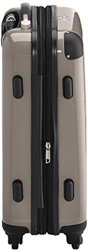 HAUPTSTADTKOFFER - Alex - 2 x Handgepäck Hartschale glänzend, TSA, 55 cm, 42 Liter, Graphit-Apfelgrün Champagne-Schwarz