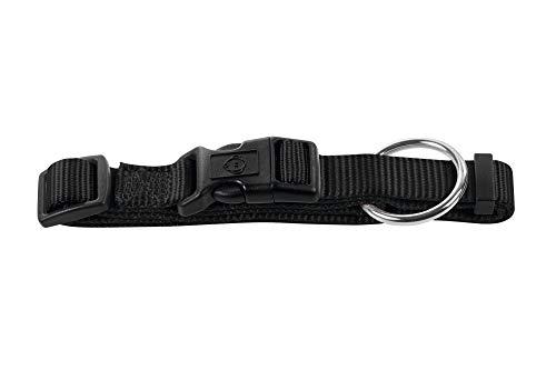 HUNTER Ecco Sport Vario Plus Hundehalsung, Nylon, mit Zugentlastung, schwarz, XS