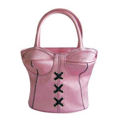 Handtasche Korsett - Corsage Bag- Erotik Deko, Tasche-Bustier - PINK - Handbag
