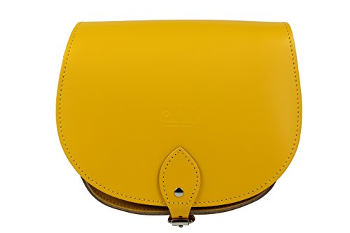 - 31lxBSr03CL - ANU® SW9 Genuine Leather London Saddle Ladies Handbag – Handmade in England (Mustard)
