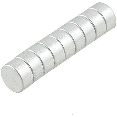 Sourcingmap - Lote de 5 pares de imanes de neodimio fuertes para neveras (6 x 3 mm)
