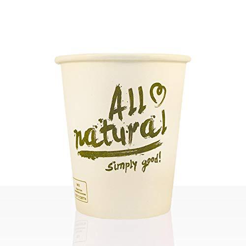 Bio Coffee to go Becher von Coffeefair Hartpapier 0,2l, 50Stk, Pappbecher, Kaffeebecher to go (All natural)