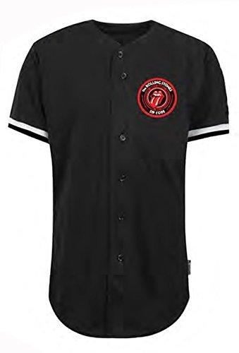 THE ROLLING STONES - Béisbol Jersey - Camiseta Oficial Mujer - Negro, Medium