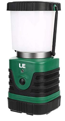 LE LED Campinglampe Tragber, Superhell 4400mAh Batteriebetrieben Suchscheinwerfer mit Bügel & Haken, 4 Helligkeiten Dimmbar, Notfallleuchte für Stromausfällen, Wandern, Camping, Notfall, Ausfälle usw.