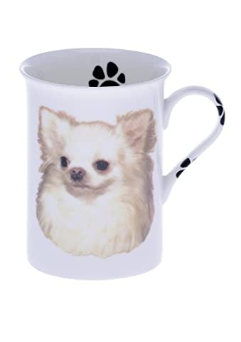 Kirsty Jayne China Bone China CHIHUAHUA-LONG HAIR 10 Fl Oz Dog Beaker, Mug, Cup (R)
